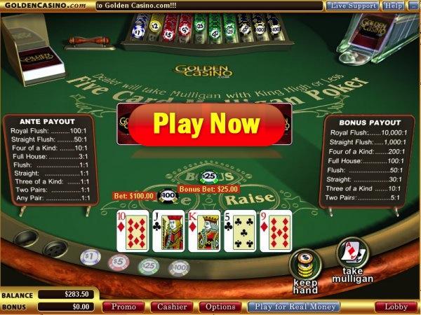 mulligan poker online
