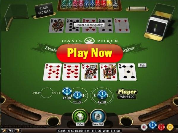 oasis poker at Mr Green Casino