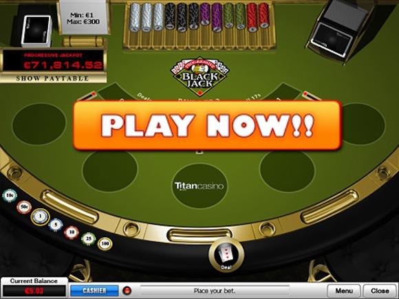 progressive blackjack online